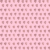 pink hearts on pink background