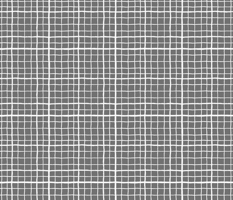 Grid Love - Grey fabric by khubbs on Spoonflower - custom fabric