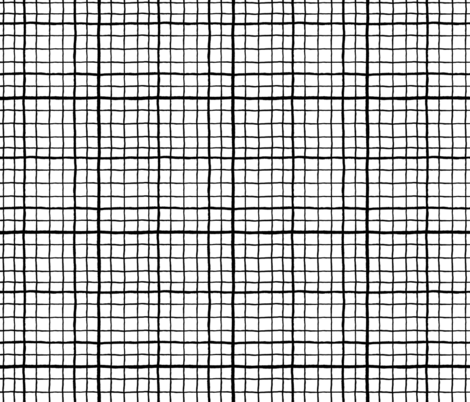 Grid Love - White fabric by khubbs on Spoonflower - custom fabric