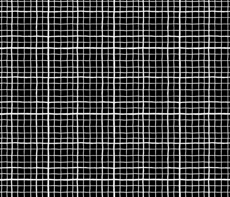 Grid Love - Black fabric by khubbs on Spoonflower - custom fabric