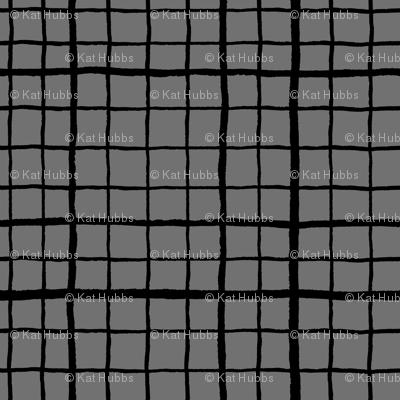 Grid Love - Grey Black