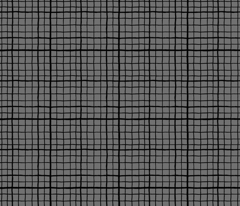 Grid Love - Grey Black fabric by khubbs on Spoonflower - custom fabric