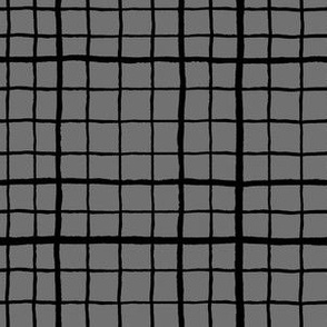 Grid Love - Grey Black
