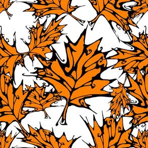 Orange Maple Leaves (largescale)