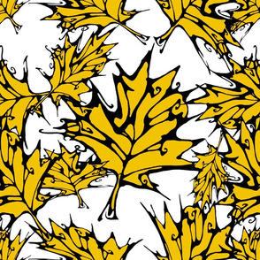 Yellow Maple Leaves (largescale)