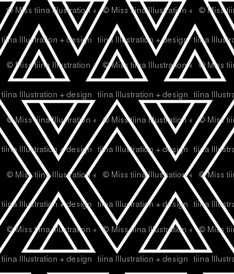 geo joe no.6 tribal aztec triangle geometric modern pattern