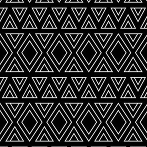 geo joe no.6 tribal aztec triangle geometric modern pattern