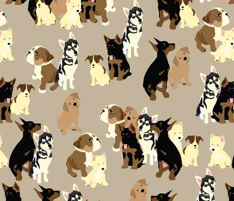 Puppy Party fabric by vieiragirl on Spoonflower - custom fabric