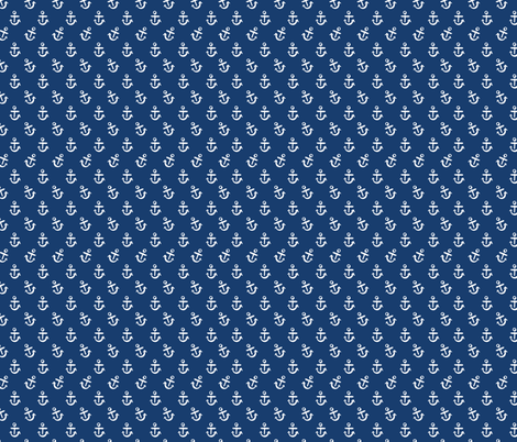 Anchors - Navy fabric by khubbs on Spoonflower - custom fabric