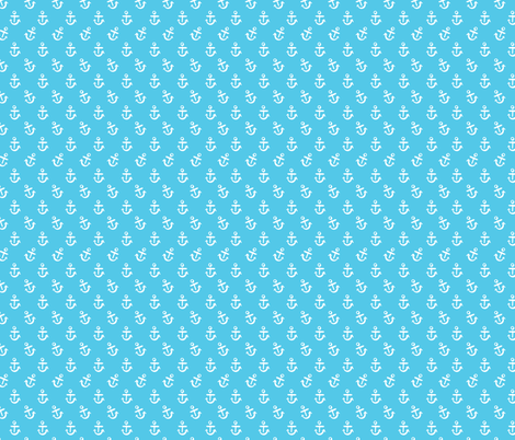 Anchors - Turquoise fabric by khubbs on Spoonflower - custom fabric