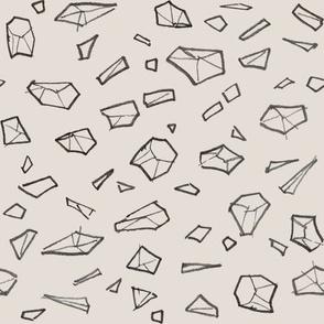 Spatial gems/ Black & greige