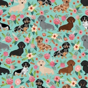 doxie dachshunds florals cute dog fabric best dog designs cute dogs florals vintage flowers