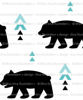 geo joe no.20 bears tribal aztec triangle geometric modern pattern