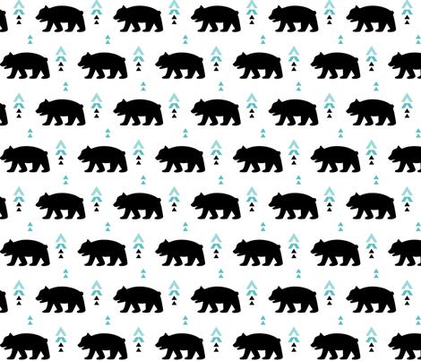 geo joe no.20 bears tribal aztec triangle geometric modern pattern fabric by misstiina on Spoonflower - custom fabric