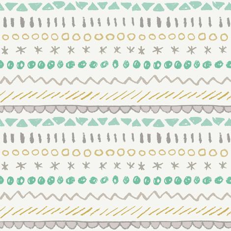 geometric mess - gender neutral fabric by crumpetsandcrabsticks on Spoonflower - custom fabric