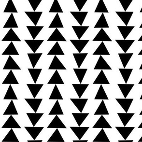 geo joe no.21 black and white triangles tribal aztec geometric modern pattern