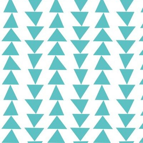 geo joe no.22 teal triangles tribal aztec geometric modern pattern