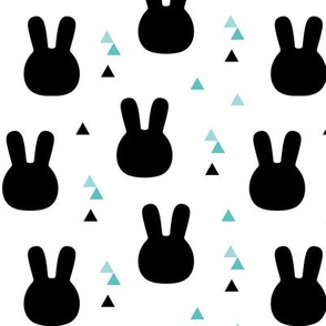 geo joe no.23 bunny rabbits tribal aztec triangle geometric modern pattern