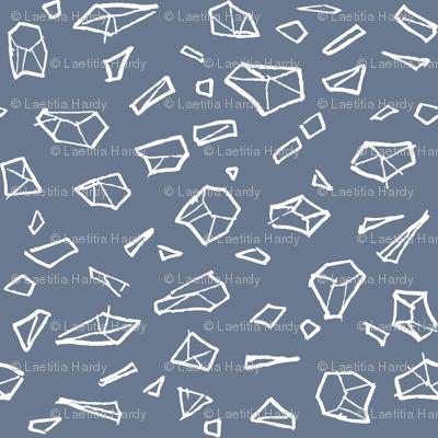 Spatial gems/White & Navy