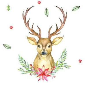 Hello Deer Holiday Print