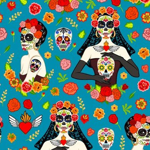 Calavera women (blue)