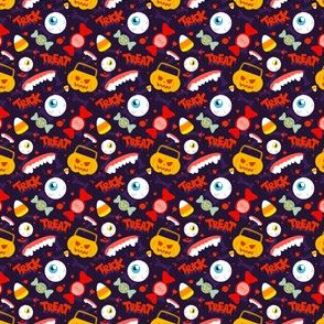 Halloween Trick Or Treat Cute Pumpkin Candy Eyeball Candy Corn