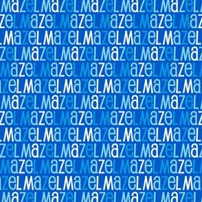 Mazel Tov Blue Letters on Blue Background