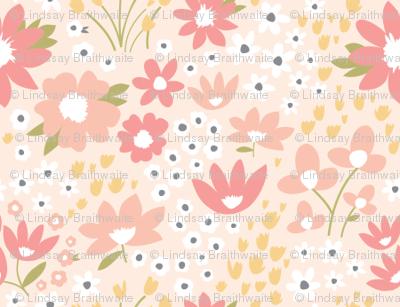 Wildflower Meadow in Blush