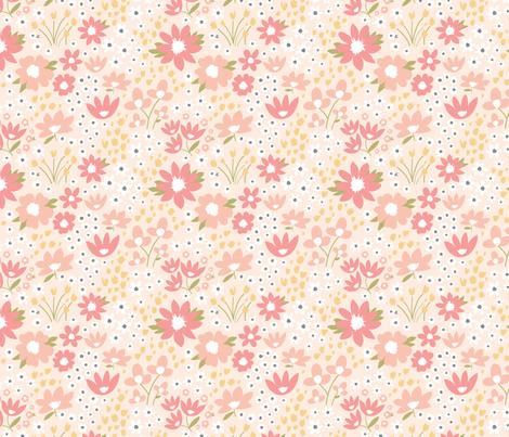 Wildflower Meadow in Blush fabric by sugarfresh on Spoonflower - custom fabric