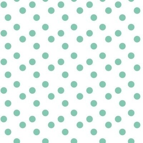 Polka dots in aqua