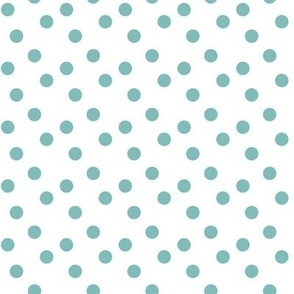 Polka dots in teal