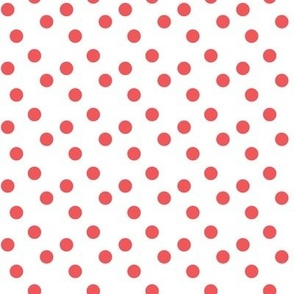 Polka dots in red