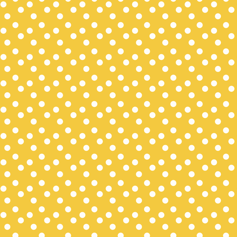 Polka dots in white on yellow - SMALL fabric by thislittlestreet on Spoonflower - custom fabric