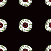Zombie Eyeball Repeat in Midnight Black