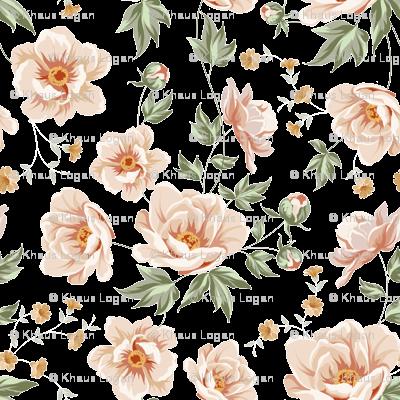 Rose Vintage Light Pink Roses