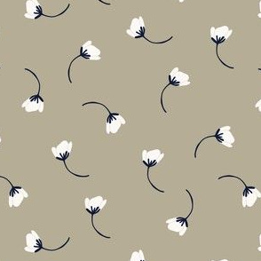 Tumbling flowers - soft grey