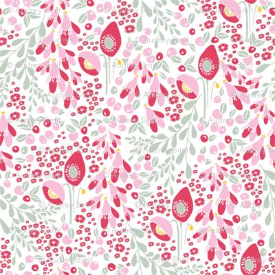 California blooms in pink