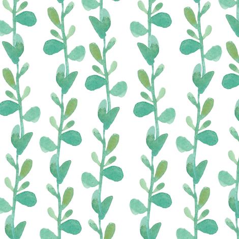 Succulent vine - BIG fabric by thislittlestreet on Spoonflower - custom fabric