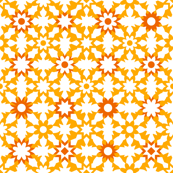 Floral Field - Orange
