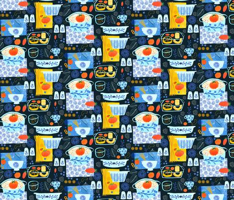 Tomato Pasta fabric by zoe_ingram on Spoonflower - custom fabric