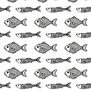 Fish - Black/white
