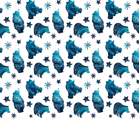galaxybears-pattern fabric by louandmoss on Spoonflower - custom fabric