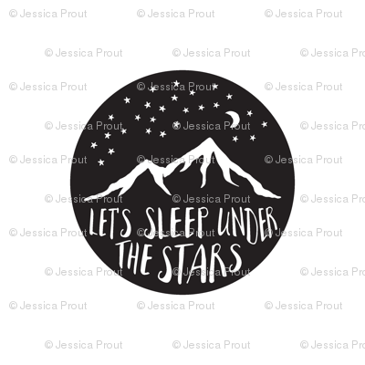 Let's Sleep Under the Stars || Pillow layout