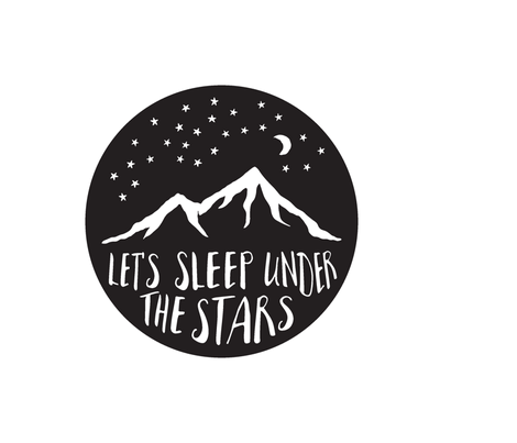 Let's Sleep Under the Stars || Pillow layout fabric by littlearrowdesign on Spoonflower - custom fabric