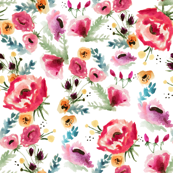 Vintage Fall Watercolor Floral