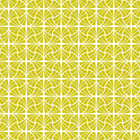Geo Ginkgo fabric by thecharmingneedle on Spoonflower - custom fabric
