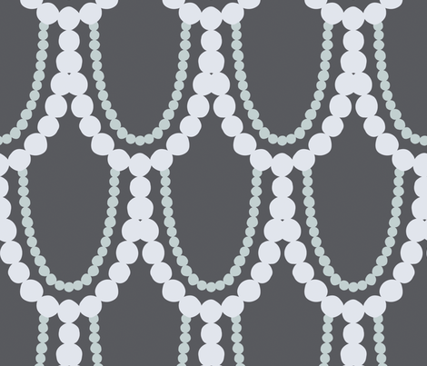 Pearl Necklace fabric by figandfossil on Spoonflower - custom fabric