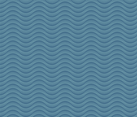 Wave fabric by thecharmingneedle on Spoonflower - custom fabric