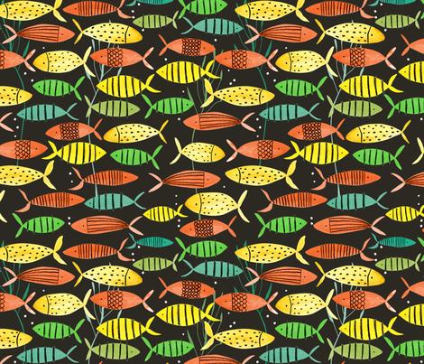 Bright Fish fabric by zoe_ingram on Spoonflower - custom fabric