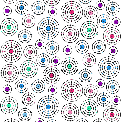Periodic Shells (Pinks and Purples) fabric by robyriker on Spoonflower - custom fabric